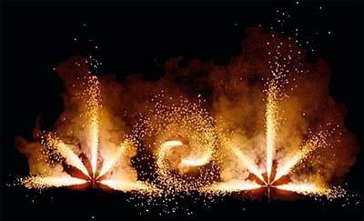 Feuerwerk Barockfeuerwerk Hochzeit in Thüringen