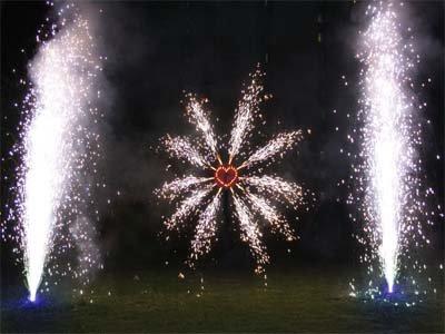 Feuerwerk zur Hochzeit in Thüringen