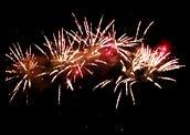 Feuerwerk Stadtfest Silbitz Thüringen