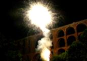 Feuerwerk Göltzschtalbrücke Vogtland Sachsen