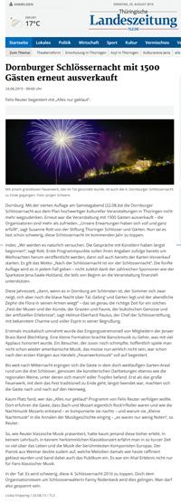 Feuerwerk Dornburg Jena
