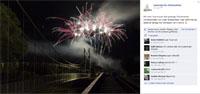 Feuerwerk zum Stadtfest Netzschkau Vogtland Sachsen