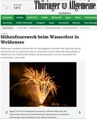 Feuerwerk zum Wasserfest in Weißensee